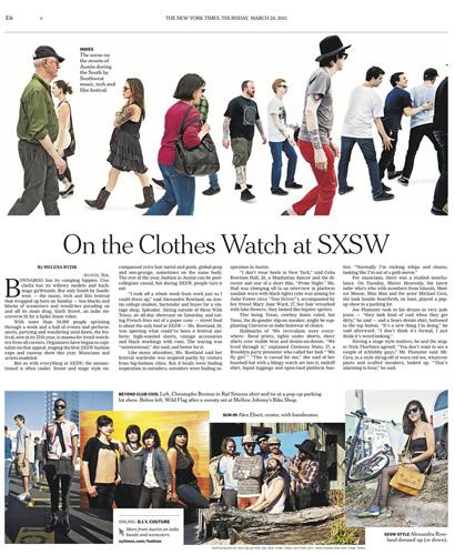 SXSW for The New York Times  © Ben Sklar