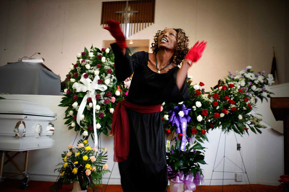 Funeral of Verna Mae &#039;Mama&#039; Boone, friend of the homeless, West End Baptist Church, San Antonio, TX  Jenn Whitney