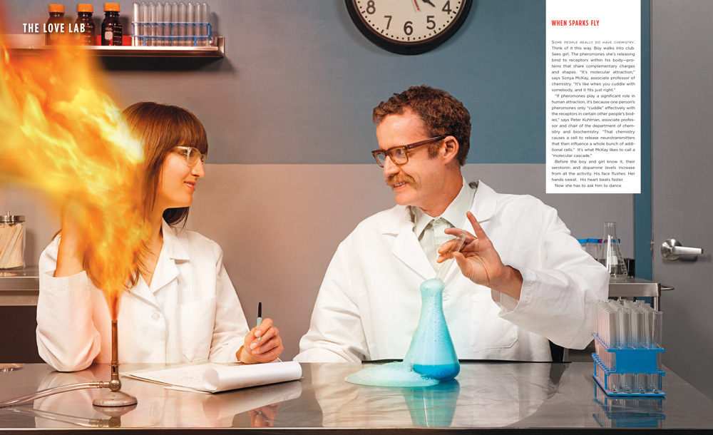 "Dension Magazine - ""The Science of Love"" - Matt Wright Steel"