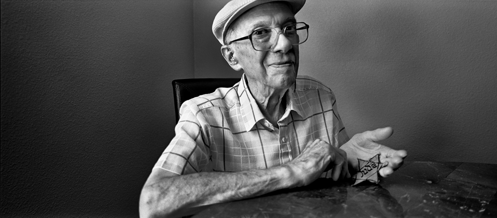 Isidor Schindelheim photographed in his apartment - Arlington, Texas, U.S.A. September 2012. Although nearly 7000 Jews made it to safety across the Swedish border before the occupation, the Nazi authorities captured 500 of the recently minted Danish Jews and deported them south to the concentration camp of Terezin.