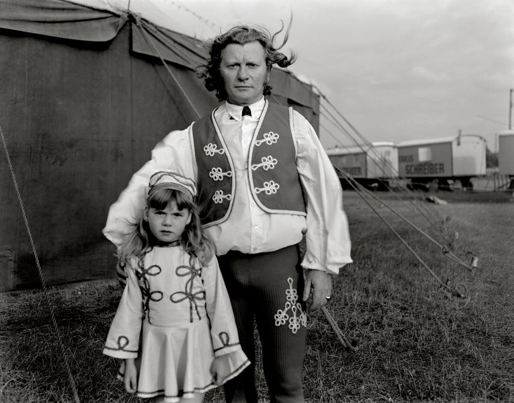 Father &amp; daughter circus act, Stockholms, Sweden, 1973
