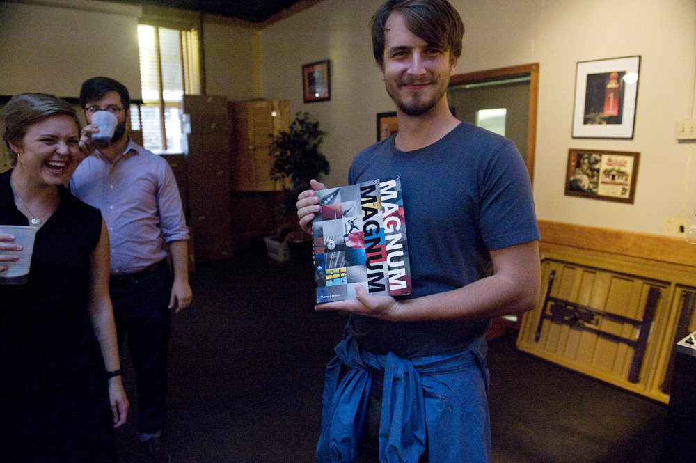 The proud winner of the Magnum Magnum book giveaway