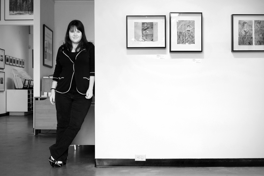 Catherine Couturier in her Gallery, Photograph by Amy V. Cooper