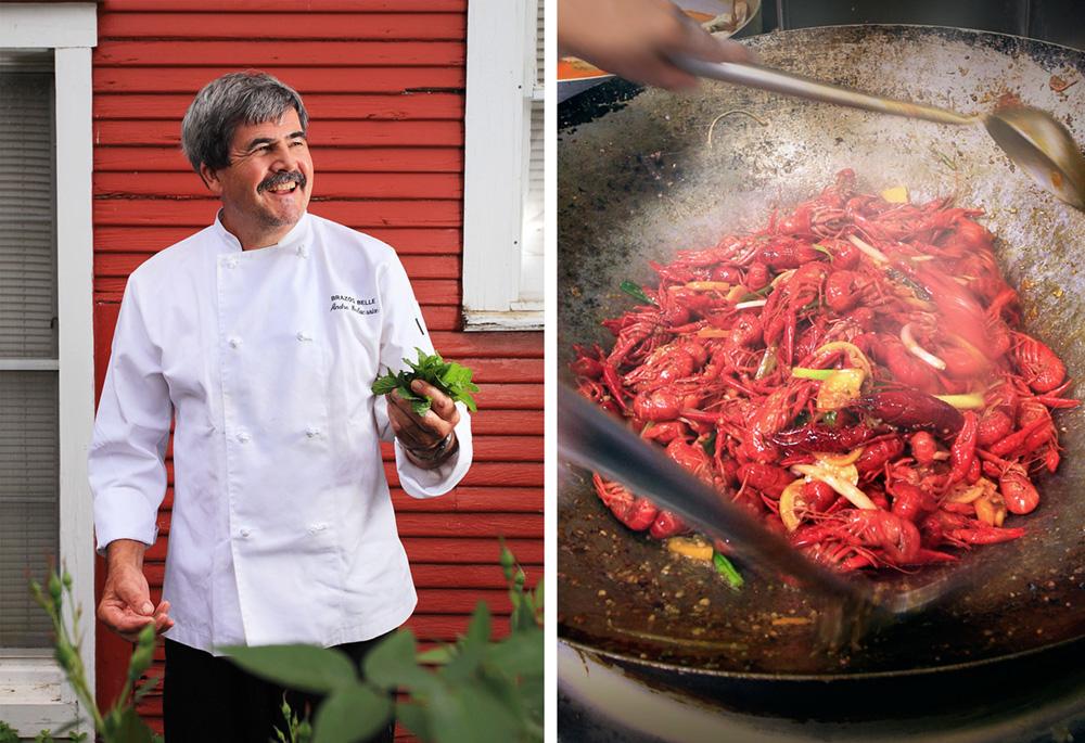 Andre Delacroix, Chef/Owner of the Brazos Belle Restaurant - Bur